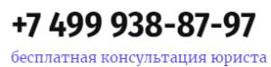 Контактный телефон +7 499 938-87-97